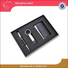 Gift Set Boxes Leather Gift Set Leather Card Case Pen Key Chain Gift Set