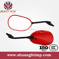 ZF001-52 FLYQUICK Universal aftermarket scooter plastic motorcycle rearview side mirrorr,red plastic mirror for YAMAHA ZRS125