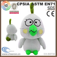 CE standard plush chicken toy with music for kids