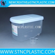 PP plastic clear rice storage box container