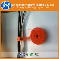 Printed Logo Reusable hook and loop cable tie