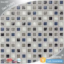 Modern Design glass mix Plastic square glass tiles Mosaic For Interior Decorative