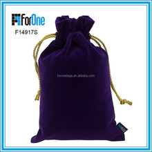 colored mesh jewelry bags for Gift Jewelry Cosmetic velvet bag