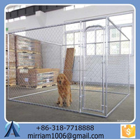 Durable and anti-rust galvanized larger outdoor dog cages/dog kennels