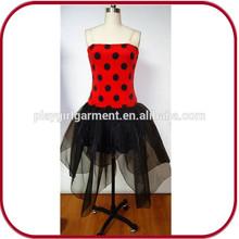 Largo atractivo vestidos mariquita tutu vestido cosplay para el partido PGFC-2955