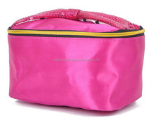 Colorful Satin material Cosmetic Bag, dongguan factory design and massproduced