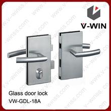 de alta calidad de vidrio sin marco cerradura de la puerta