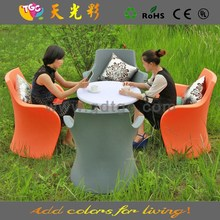 plastic multicolored table and chairs PE material furniture nursery table and chair