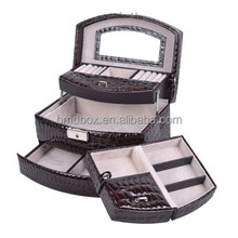 automatic european style wholesale faux brown leather storage box