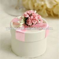 Top grade round paper flip top candy box
