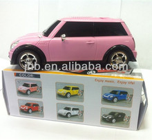 2012 Newest style! Jeep car design speaker with FM radio /car speaker By Jin Huibo