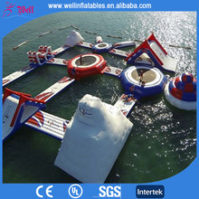 New design giant beach inflatable water park / lake floating water games / commercial aqua park