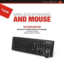 HAVIT 2.4GHz wireless technology keyboard and mouse