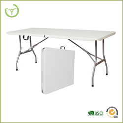 2015 Portable folding table -6' rectangle folding table HDPE table top/plastic folding tables wholesale / plastic table