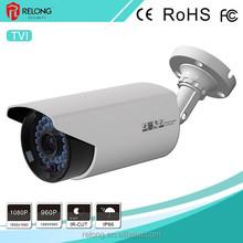 Porcellana primi 10 vendere 2.0mp 1080p risoluzione HD guscio in metallo giorno e notte di sicurezza di sorveglianza TVI telecamera bullet