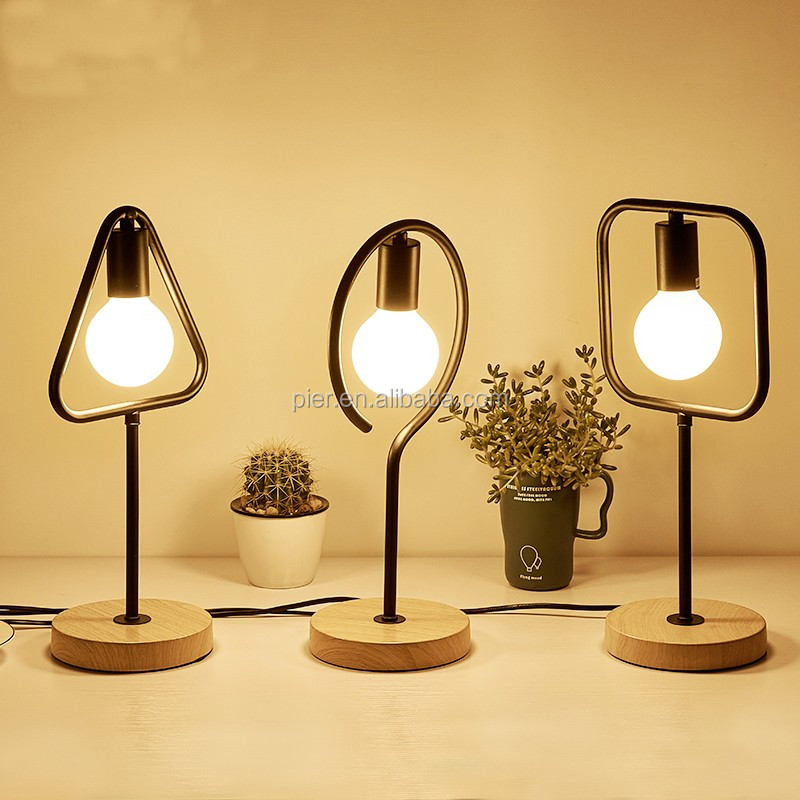 장식 주도 나무 책상 빛 실내 검은 금속 테이블 램프-샹들리에 및 ...