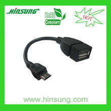factory price micro usb otg cable adaptador micro usb