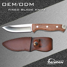 Outdoor AUS8 steel fixed blade hunting knife