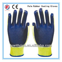 PVC palm rubber coated safety working Glove 90g/100g/110g