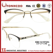 FONHCOO Export 2014 Latest New Design Branded Spectacle Frames Metal Legs Optical Frames Glasses