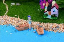 Micro landscape Mini Resin Boat ship DIY Garden Ornament Fairy Garden Decor