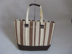 New 2015 Eco-friendly Material Factory Canvas Ladies Shopping Bag
