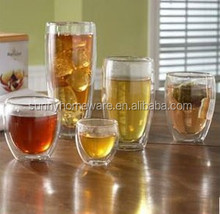 Custom double wall soft drink glass cup