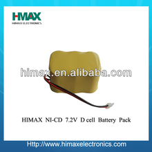 nicd battery 9.6v 700mAh used in power tools, consumer use, lighting and other home