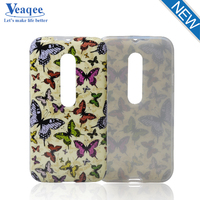 Veaqee manufacturer mobile phone relief custom TPU case for Moto G3