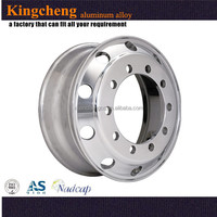 Hot sale factory manufacturer Precision casting aluminum truck wheels 24.5