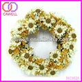 venta al por mayor de flores artificiales coronas de flores de la primavera