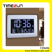 Digital Atomic Monitor Indoor Temperature Wall Clock,Automatically Updates for Daylight Saving Time