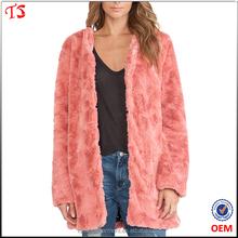 China garments factory winter fake fur coat woman