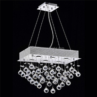 zhongshan customization crystal material hanging Light for dinning room