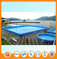 2015 new products pool frame steel frame portable swimming pool
