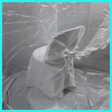 high quality 100% polyester follding chair cover white #PSCP001