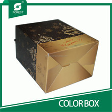 PERSONALIZED FANCY CORRUGATED COLOR BOXES FOR CHRISTMAS GIFTS PACKAGING