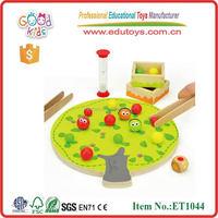 Fine moter skill clip fruit kids educational wooden toys