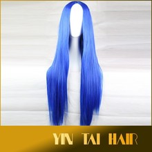 New 2015 Fashion Long Straight Women Cosplay Wigs/Brand High Quality Blue Wigs Women/Synthetic Women Wigs 75cm