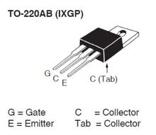 IXYS IXGP16N60C2 for SMPS 16A 600V HiPerFAST IGBT Transistor