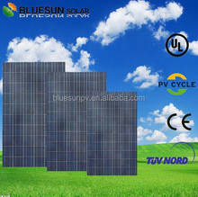 Bluesun China factory supply mono and poly sunrise 250w pv solar panels