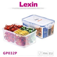 Custom logo 3 compartment microwave food container