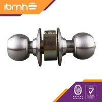 Cylindrical Wood Door Lock with Knob for Bath made by SS201