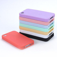 Phone Cases TPU Silicone Sherbet Back Soft Housing Cover Case For iPhone 4 4G 4S shipping Drop Shipping in stock