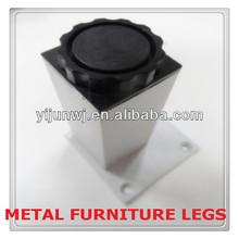 sell well children furniture aluminum square tube adjustable furniture leg YJ-083
