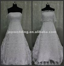 N041 Free shipping latest designer Real sample royal bridal long sleeve lace wedding dress 2012
