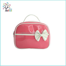 hot sales lovely pink pu womens toilet bag, leather toilet bag