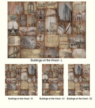 Gris New Design Collectors Collection Modern Classic Art Deco Theme Buildings on the Wood Non-woven Paper Wallpaper