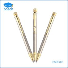 Promotional golden slim cross pen cheap twist mechanism heavy metal ball pen