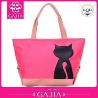 Hot sale leisure handbag fashion women hangbag printed a cat